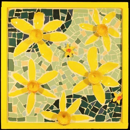 Frank McDonough, Daffodil, Mosaic.