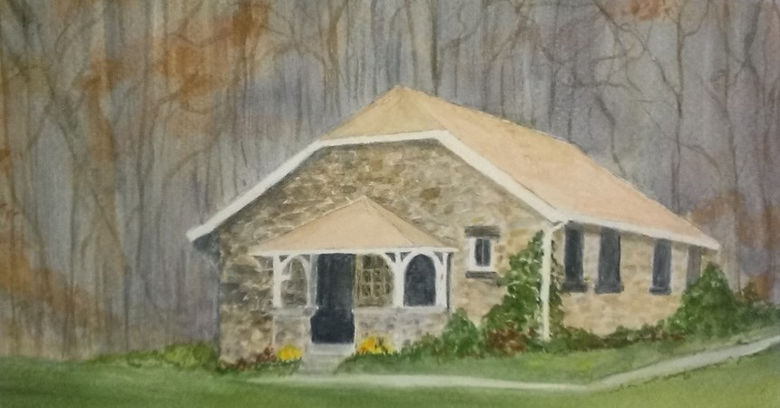 "Ellie Culver, ""Science Building at Delbarton"", Watercolor."