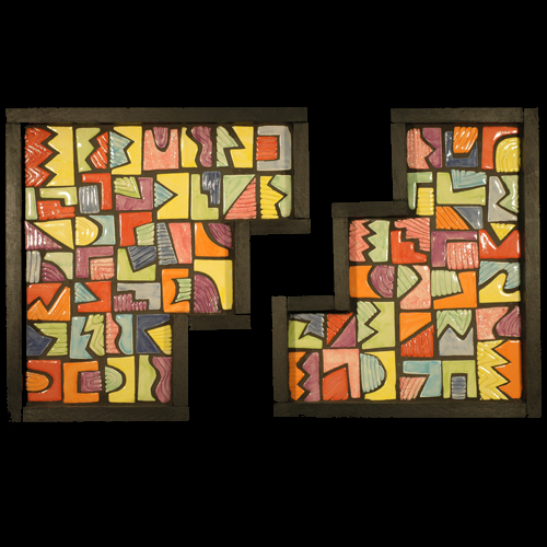 Frank McDonough, Geo Puzzle, Mosaic.
