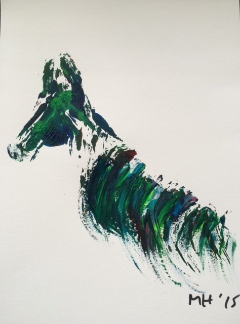 Monique Hendricks, Horse, Acrylic.