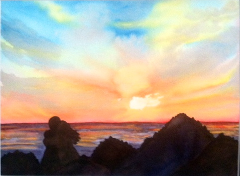 Noreen Brunini, The Day is Done, Watercolor.