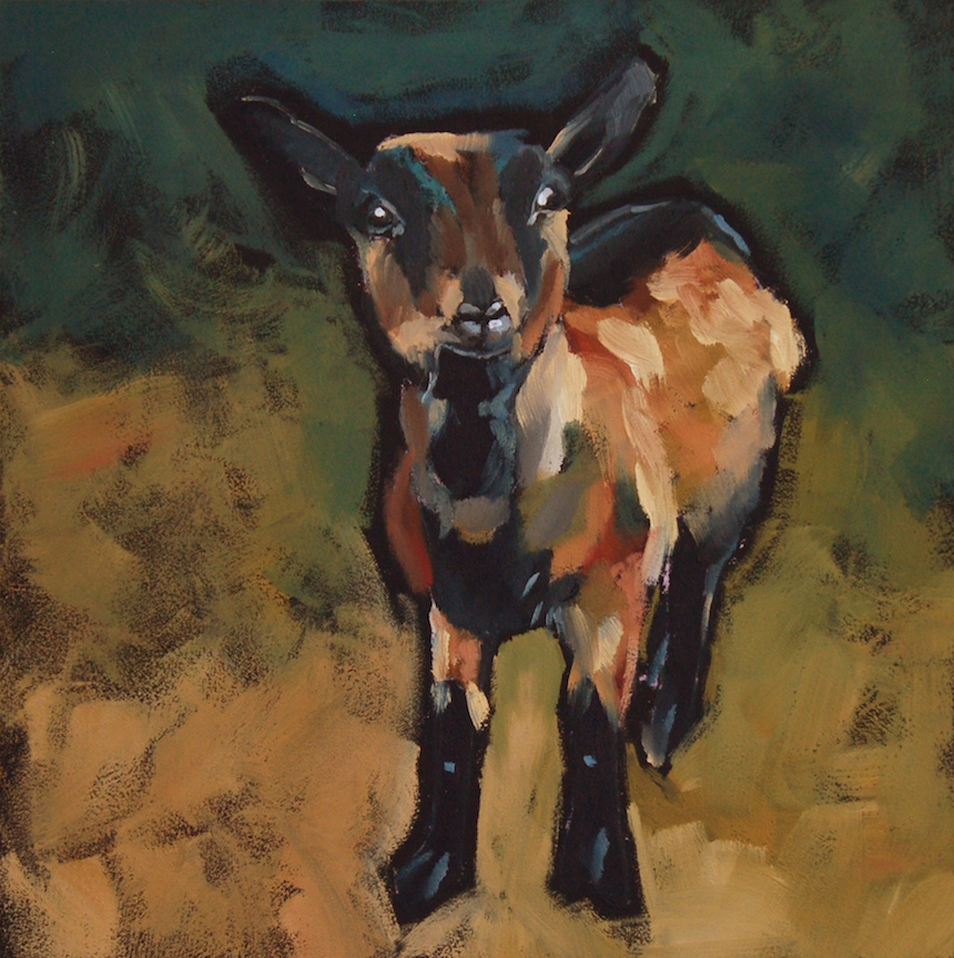 Philla Barkhorn, Midge, Oil.