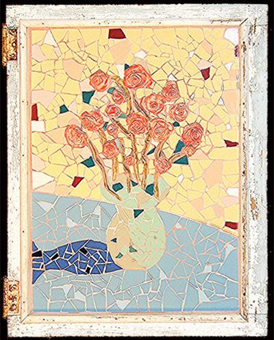 Frank McDonough, Roses, Mosaic.