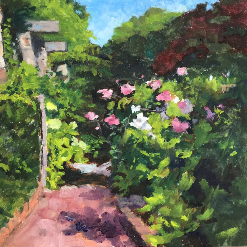 Nancy Kingman, Garden Path, Oil.