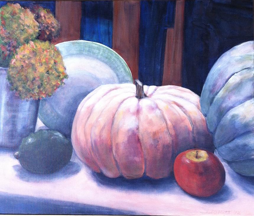 """Sally Abbott, """"Autumn Study"""", Acrylic."""