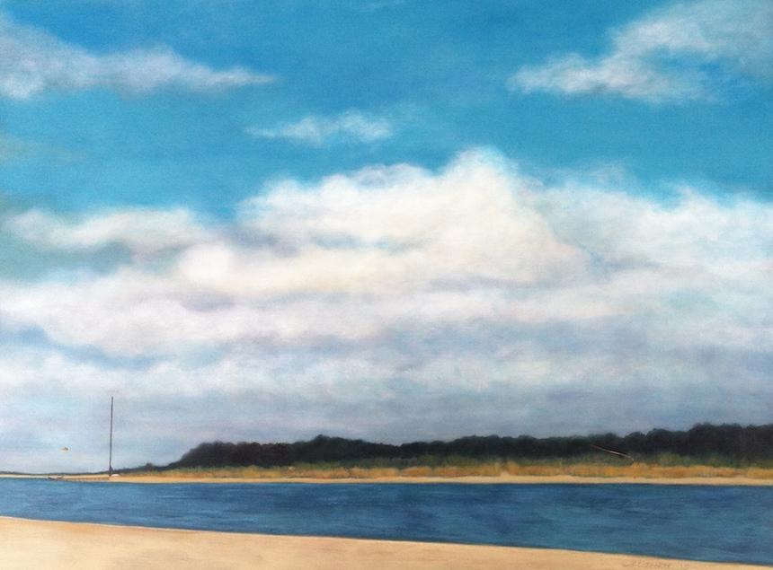 """Sally Abbott, """"Carolina Sky"""", Acrylic."""