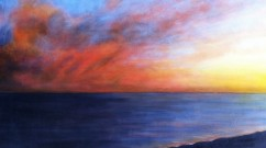 "Sally Abbott, ""Pacific Sky"", Acrylic."