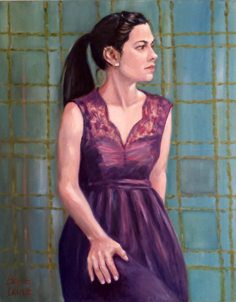 "Anne Paule Picker, ""Tina"", Oil."