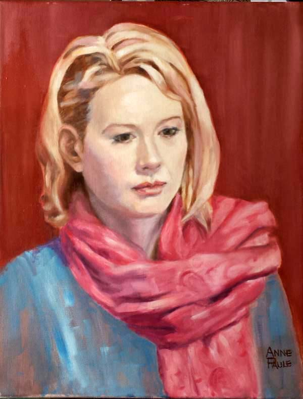 "Anne Paule Picker, ""Marissa"", Oil."