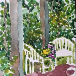"Susan Brown, ""Macculloch Porch"", waterolor."