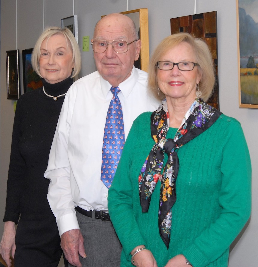 Charter members (L-R) Suzanne Casterlin, Ed Schuh, and Kathy Havens.
