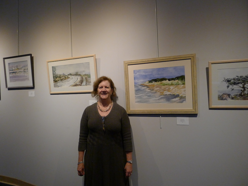 Betsy Mirabelli at her solo show exhibit.