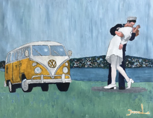 """Fanelo Aguayo, """"My Own, Private San Diego"""", oil."""