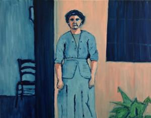 "Fanelo Aguayo, ""The Lady in Blue"", oil."